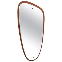 1960s Teak Scandinavian Mirror