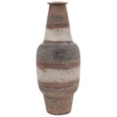 Large Midcentury Marcello Fantoni Stoneware Ceramic Lamp Base