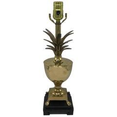 1970s Brass Pineapple Urn Lamp