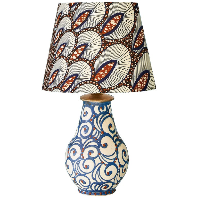 1920s Kahler Ceramic Table Lamp For Sale
