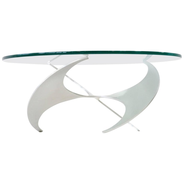 K9 Knut Hesterberg Propeller Coffee Side Cocktail Table Sicheltisch, Midcentury