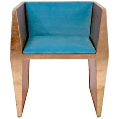Sentient Locust Accent Chair With Black Wool Upholstery