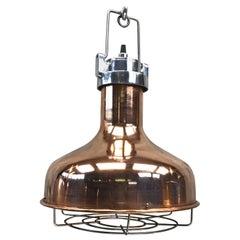 Late 20th Century American Copper & Aluminium Vintage Industrial Pendant Lamp