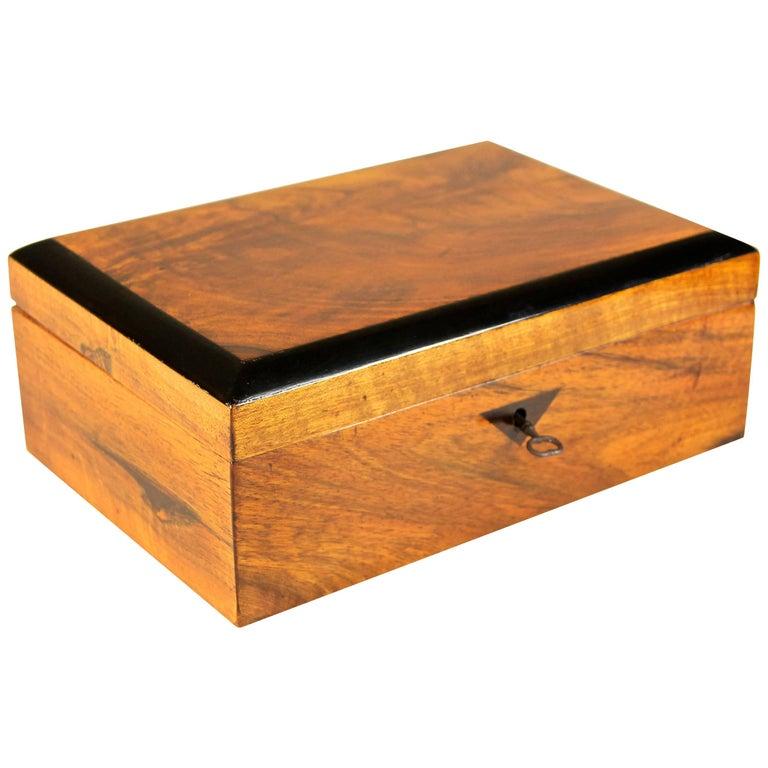 Nut Wood Biedermeier Box, Austria, circa 1835