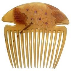 Lucien Gaillard, a Rare and Magnificient Art Nouveau Comb, Signed