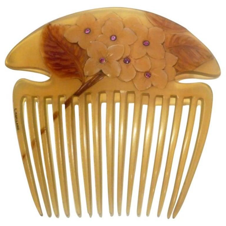 Lucien Gaillard, a Rare and Magnificient Art Nouveau Comb, Signed 1