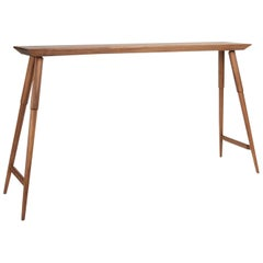 Rockport Hardwood Console Table, Mid-Century Inspired and Custom-Made by DUNN