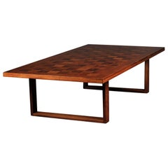 Scandinavian Modern Rosewood Cocktail or Coffee Table Designed by Poul Cadovius