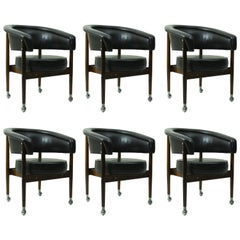 Set of Six Sergio Rodrigues Beg Armchairs