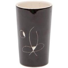 Schwarz / weiß Keramik Tasse by Joan Miró