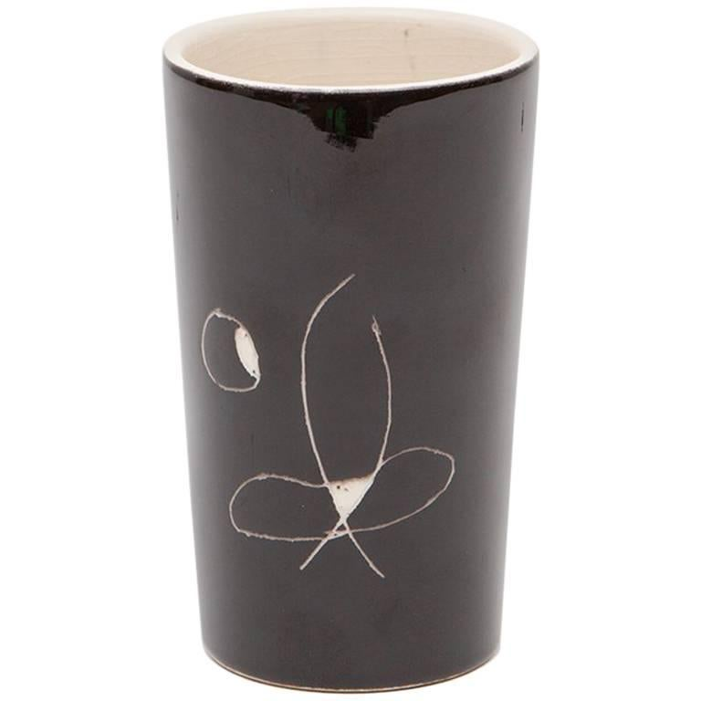 Black and White Ceramic Cup by Joan Miró