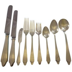 Clinton by Tiffany & Co. Sterling Silver Flatware Set 8 Service 74 Pcs Dinner