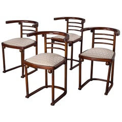 "Set of Four Joseph Hoffmann ""Die Fledermaus"" Chairs by Mundus"