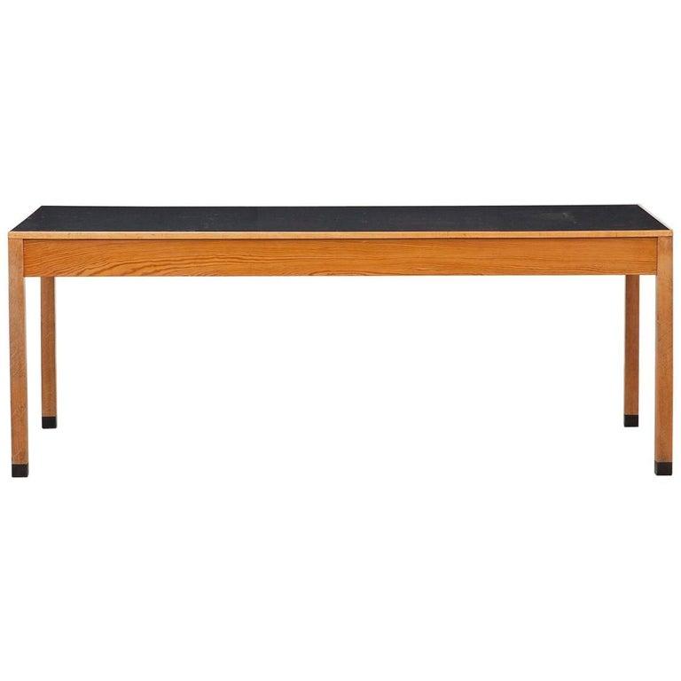 Linoleum Frankfurt 1960s light wood and black linoleum table by ferdinand kramer f