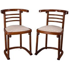 "Pair of Joseph Hoffmann ""Die Fledermaus"" Chairs"