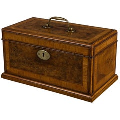 Gillow Walnut and Padouk Tea Caddy
