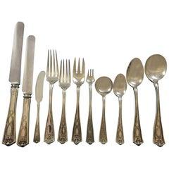 Winthrop by Tiffany & Co. Sterling Silver Flatware Set 12 Service 131 Pc Dinner