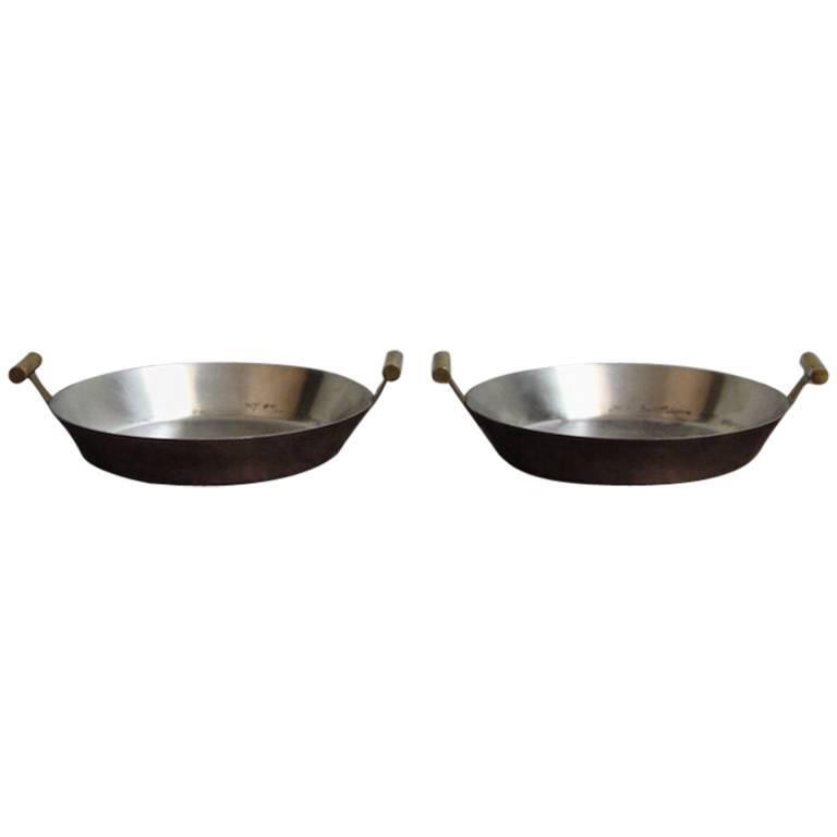 Carl Auböck Pair of Copper Pans