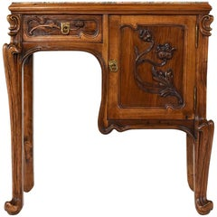 Early 20th Century Art Nouveau Nightstand in the Manner of Louis Majorelle