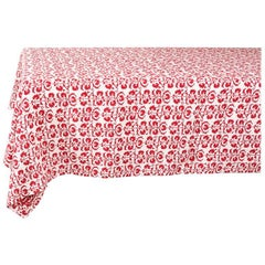 Squared Tablecloth with a Suzani Patterns