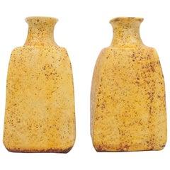 Rare Pair of Midcentury Marcello Fantoni Stoneware Ceramic Vases