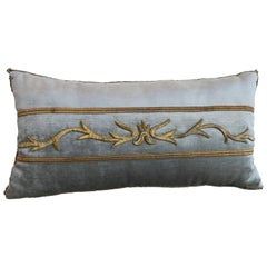 Antique European Raised Gold Embroidery Pillow