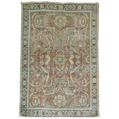 Antique Persian Shabby Chic Mahal Rug