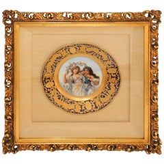Hand-Painted Portrait Plate Two Maidens Jules Etienne Rue De Paradis France