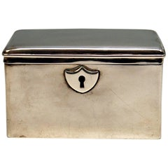 Austrian Biedermeier Silver Sugar Box, Vienna, Josef Wiederspeck, 1839