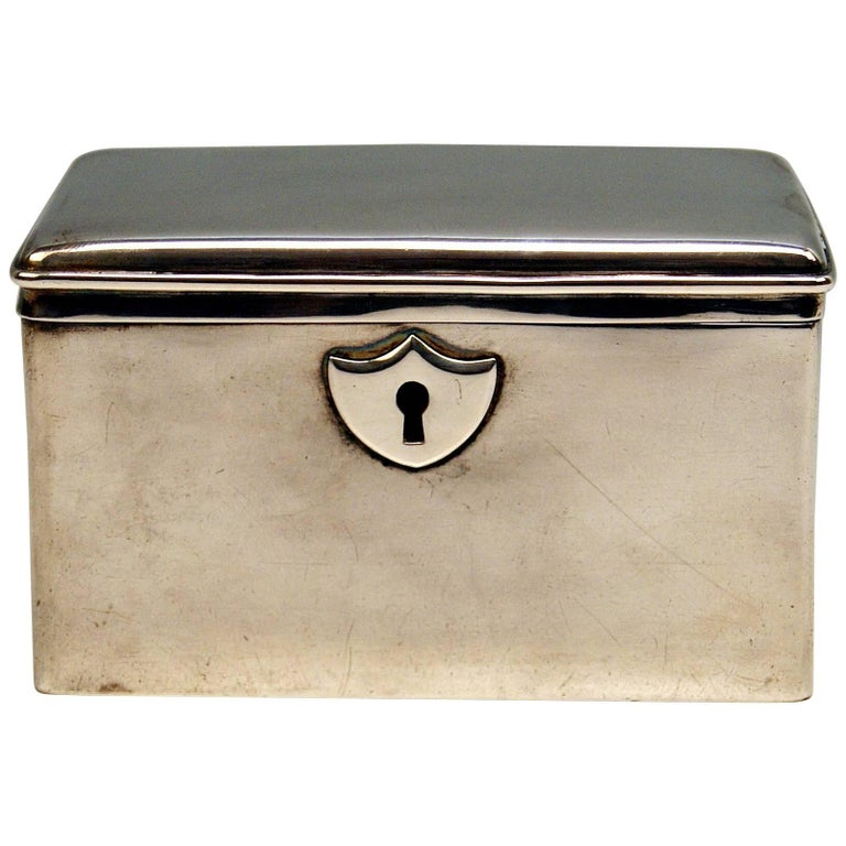 Austrian Biedermeier Silver Sugar Box, Vienna, Josef Wiederspeck, 1839 For Sale