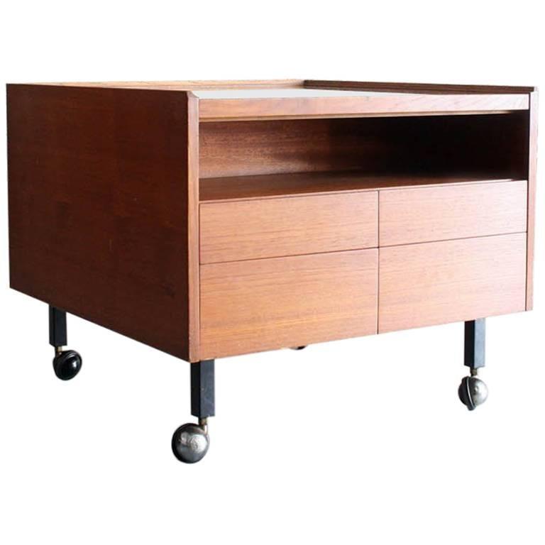 Teak Bar Cabinet/Cart by Arne Vodder for Sibast, Denmark