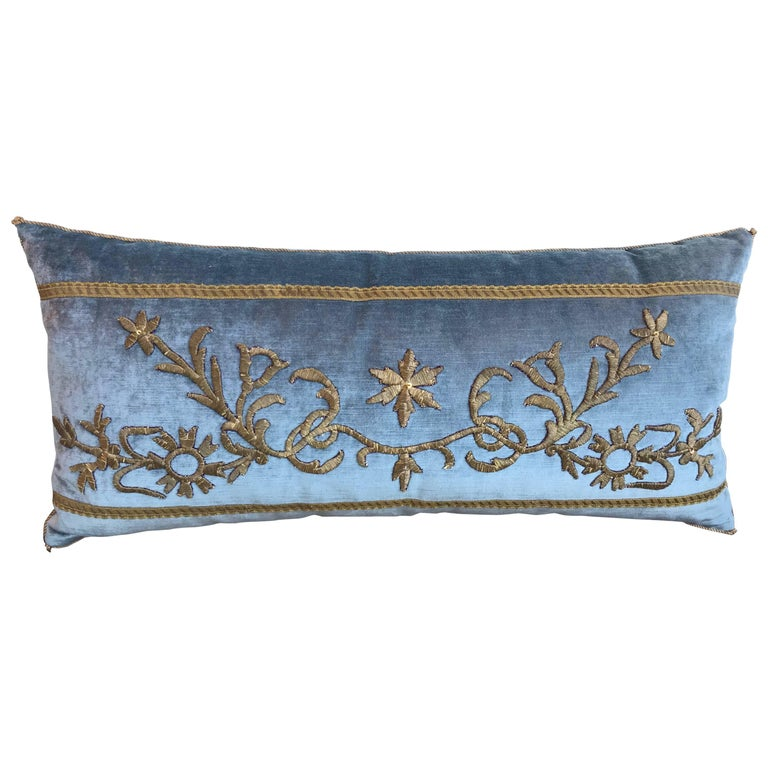 Antique Gold Decorative Pillows : Antique Ottoman Gold Embroidery Pillow For Sale at 1stdibs