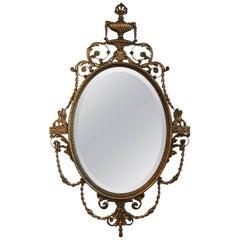 Elegant Adam Style Gilt Mirror