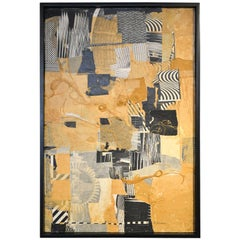 Mixed-Media Collage by California Artist Don Werner, 1929-2010