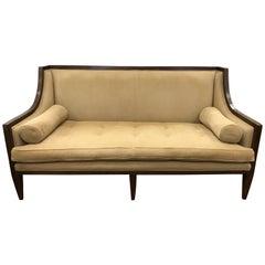 Swaim Tuxedo Sofa with Bolster Pillows
