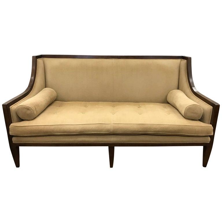 Swaim Tuxedo Sofa With Bolster Pillows For