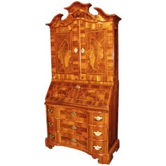 18th Century Baroque Cabinet with Secretaire, Germany, 1760