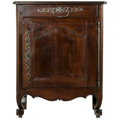 Late 19th Century French Cherrywood Jam Cabinet with Iron Hardware