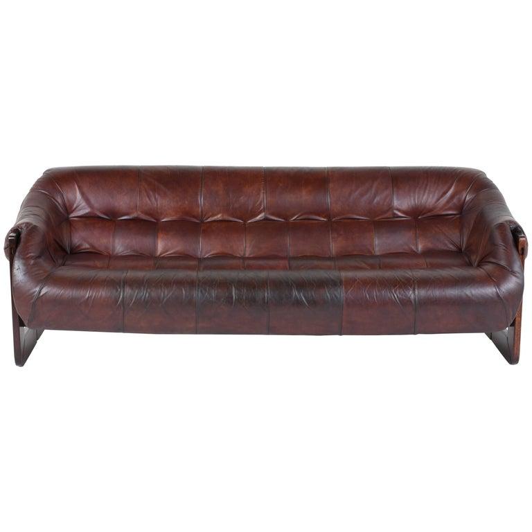 Percival Lafer Leather Sofa