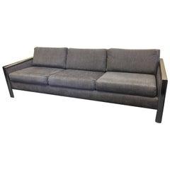 Chrome Edged Midcentury Sofa by Milo Baughman for Thayer Coggin