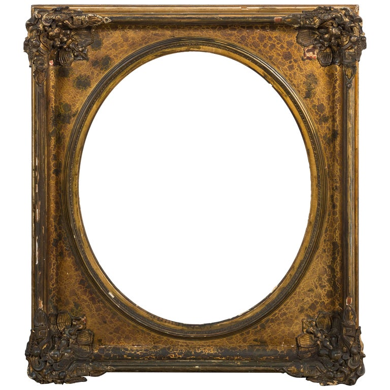 Early 19th Century Gilt and Gesso Picture Frame President James Polk Estate