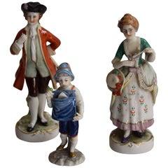 Three 20th Century Capodimonte Porcelain Figurines