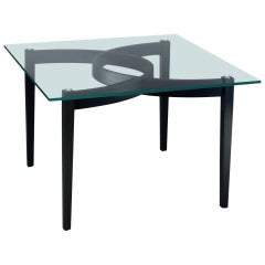 """Arthur B2"" Extra-Clear Glass Top Square Table by Ron Gilad for Adele-C"