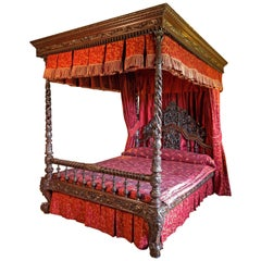 19th Century Anglo-Indian Four-Poster Bed