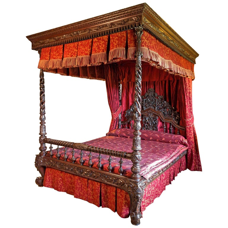 Antique Bed: 19th Century Anglo-Indian Four-Poster Bed At 1stdibs