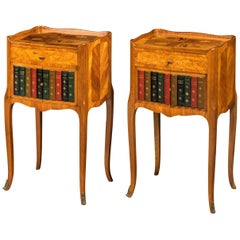 Pair of Late 19th Century Kingwood and Marquetry Night Cabinets