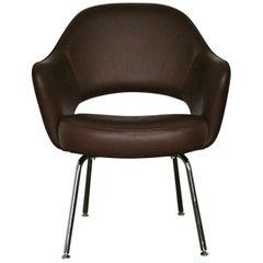 "Knoll Studio ""Saarinen Executive"" Armchair in ""Volo"" Brown Leather"