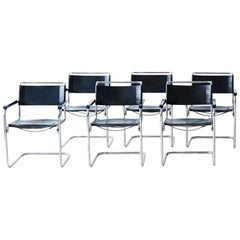 Set of Six Thonet Cantilever Armchairs S34 by Mart Stam, 1927 Bauhaus
