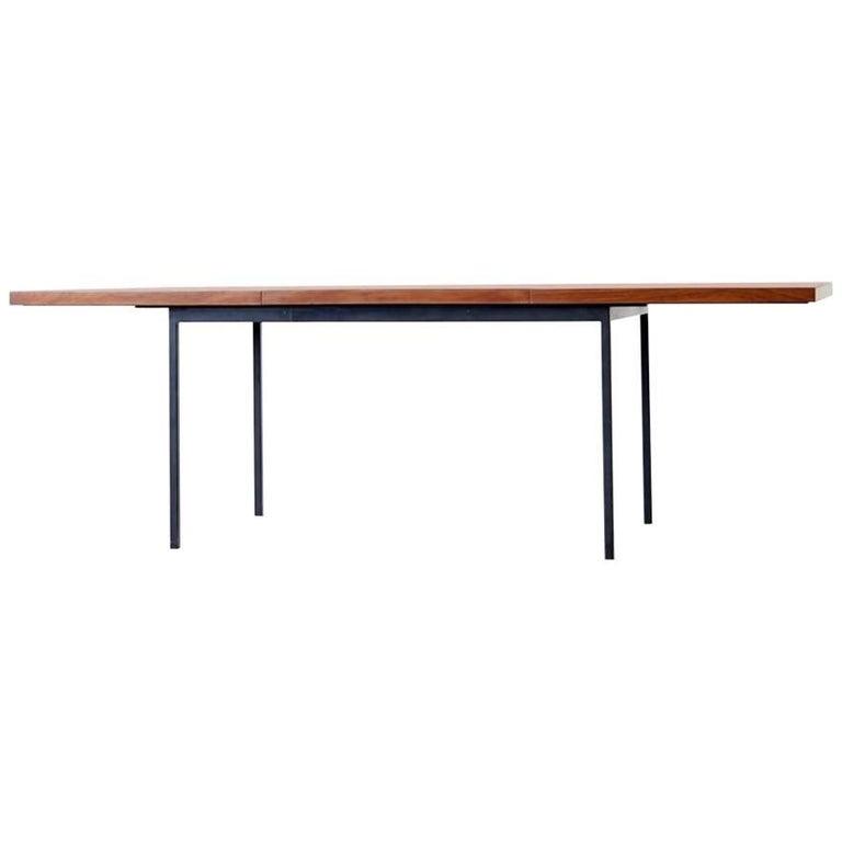 Fred Ruf Extendable Dining Table Model 413 Knoll International Teak