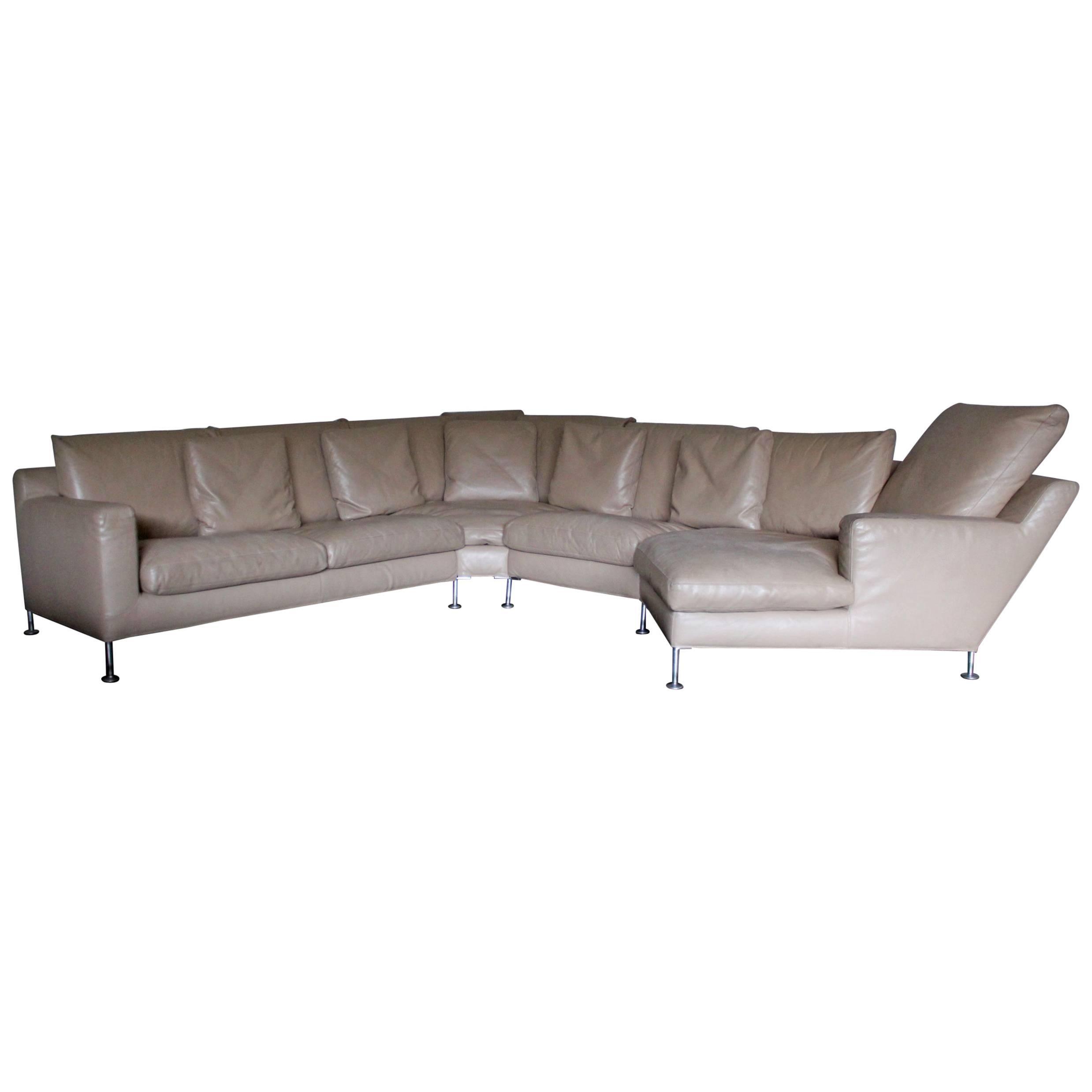 Bu0026B Italia U201cHarryu201d Six Seat L Shape Sofa U0026 Ottoman In Pale